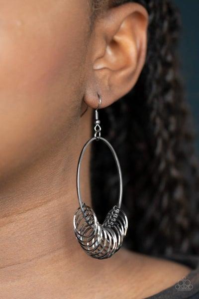 Halo Effect - Gunmetal Earrings