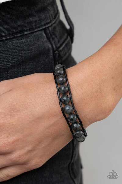 Homespun Stones - Black Urban Bracelet