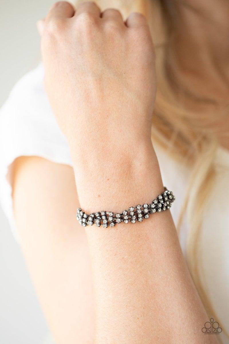 Twists and Turns - Gunmetal Clasp Bracelet