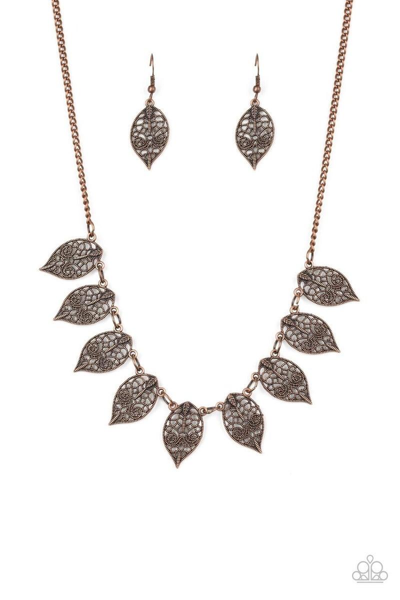 Leafy Lagoon - Copper Necklace