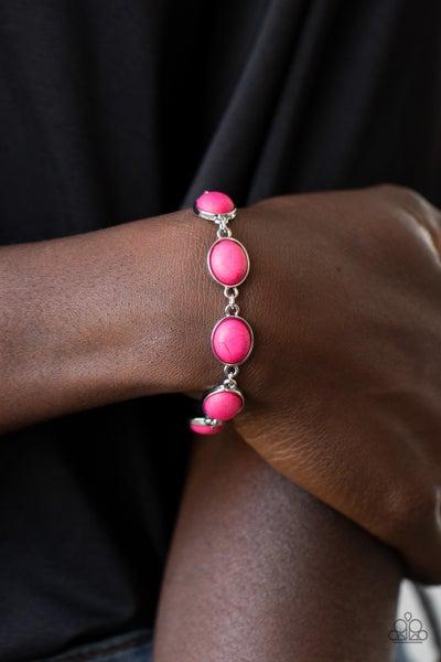 Nice Stonework - Pink Clasp Bracelet