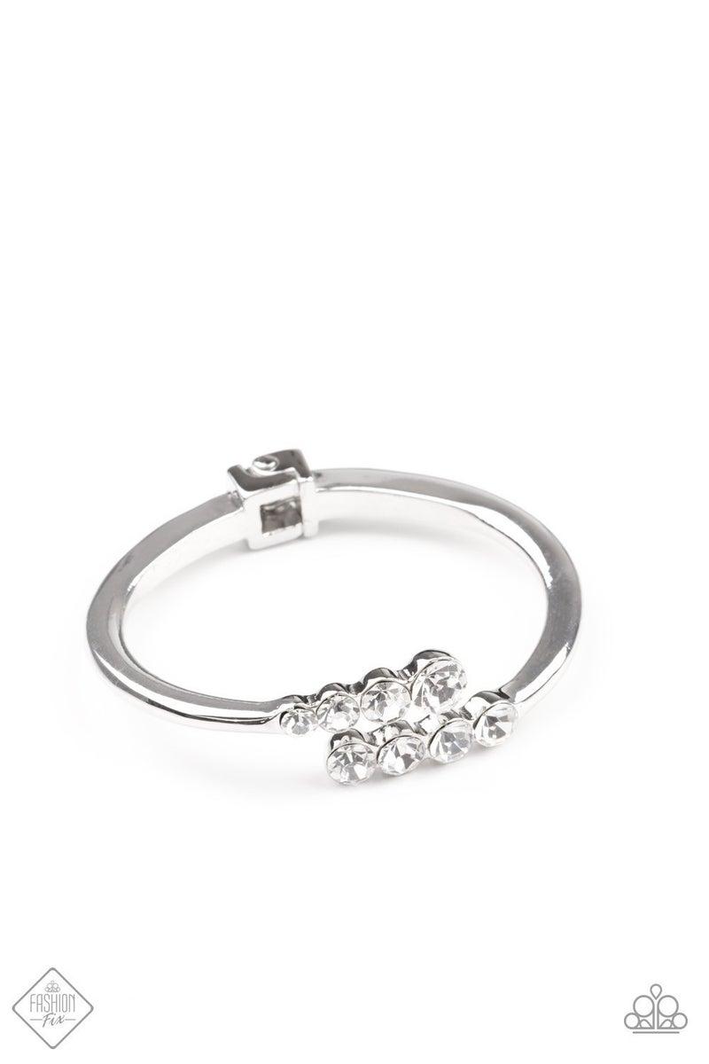 Defying Dazzle - White Hinged Bracelet - February 2021 Fashion Fix