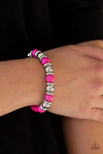 Across the Mesa - Pink Stretchy Bracelet