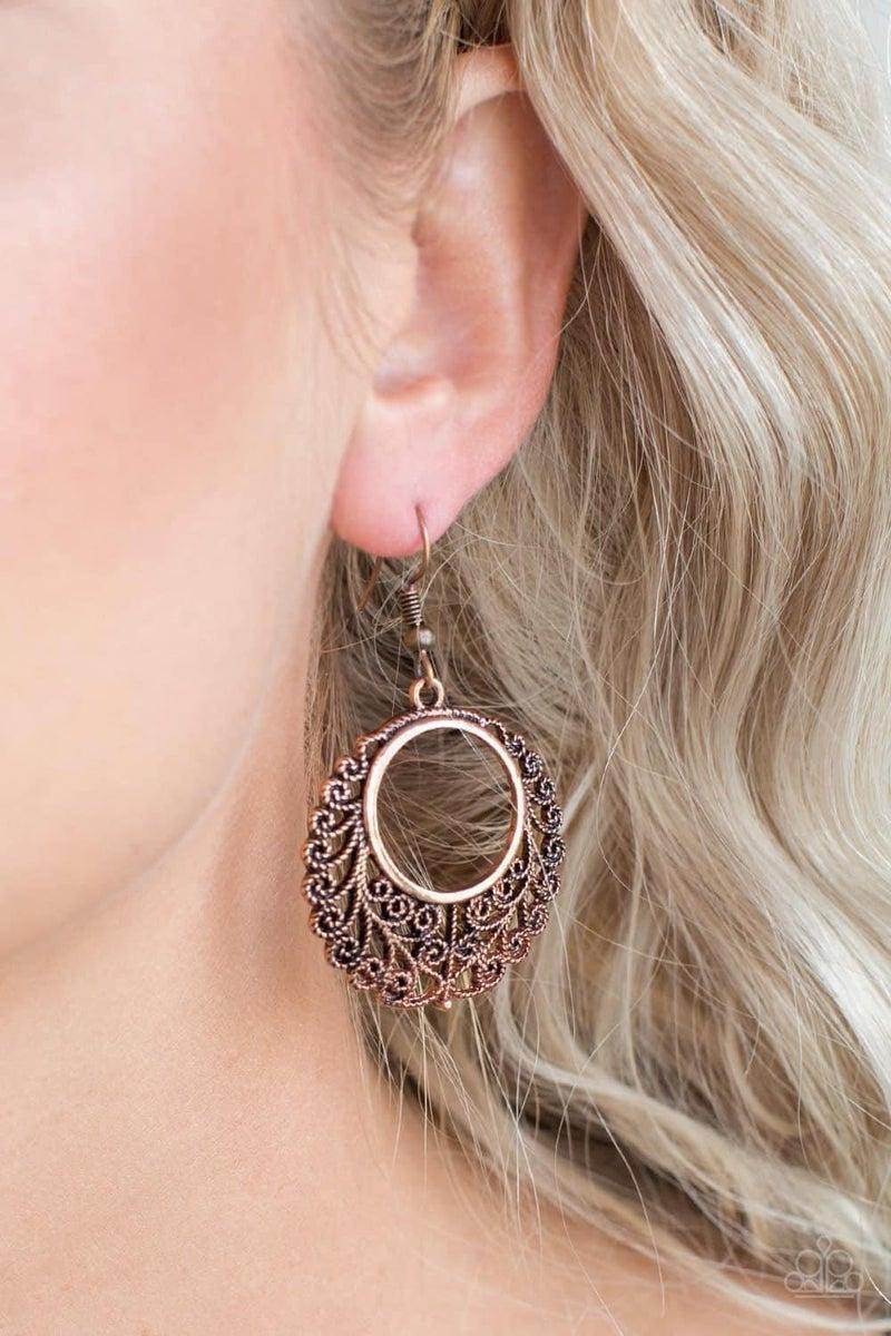 Grapevine Glamorous - Copper Earrings