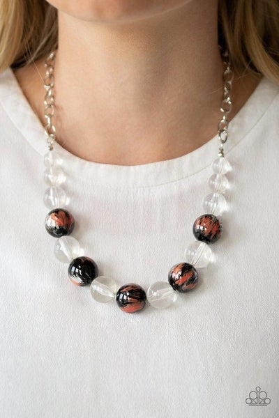 Torrid Tide - Orange Necklace