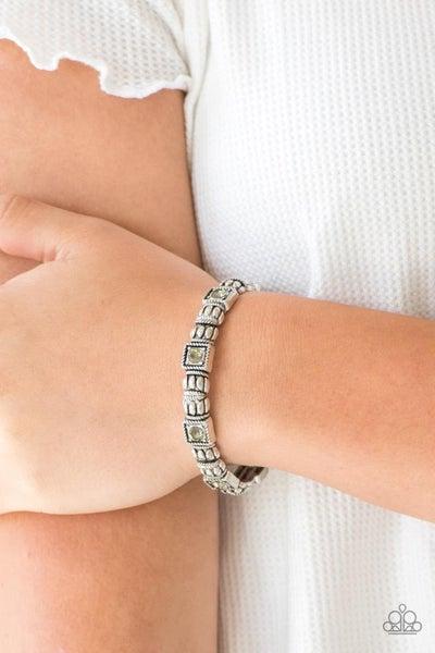 Metro Marvelous - Silver Stretchy Bracelet