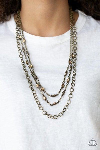 Metro Mixer - Brass Necklace