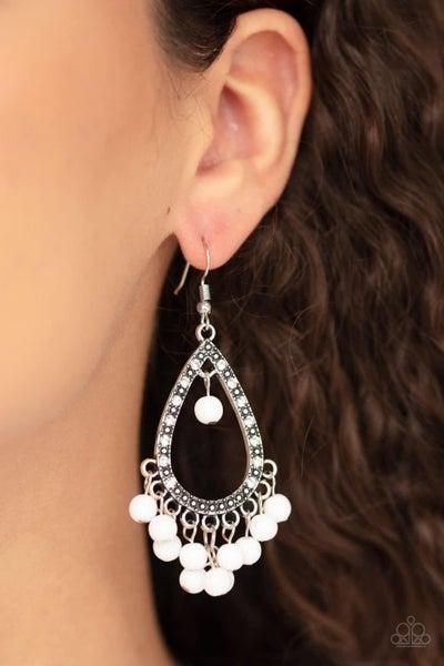 Positively Prismatic - White Earrings