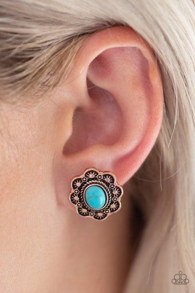 Springtime Deserts - Copper Earrings