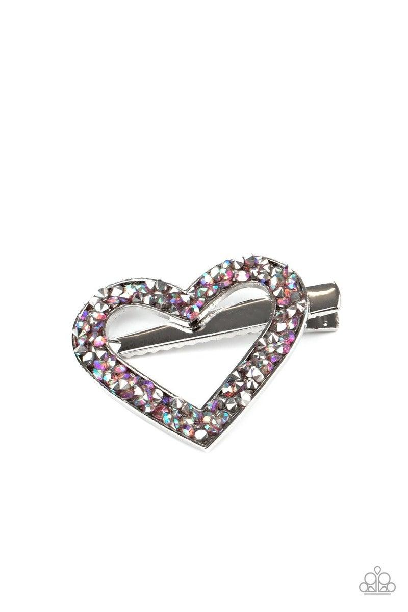 Love Is A Battlefield - Purple Hair Clip