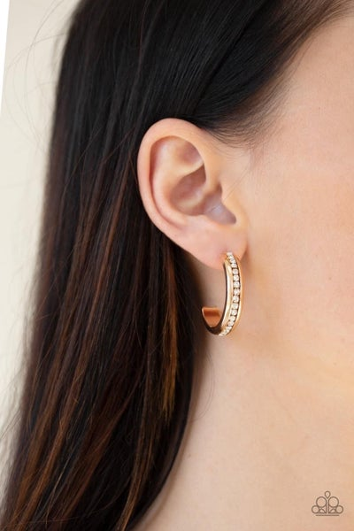 5th Avenue Fashionista - Gold Hoop Earrings