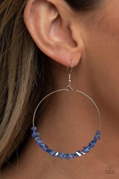 Glimmering Go-Getter - Blue Earrings
