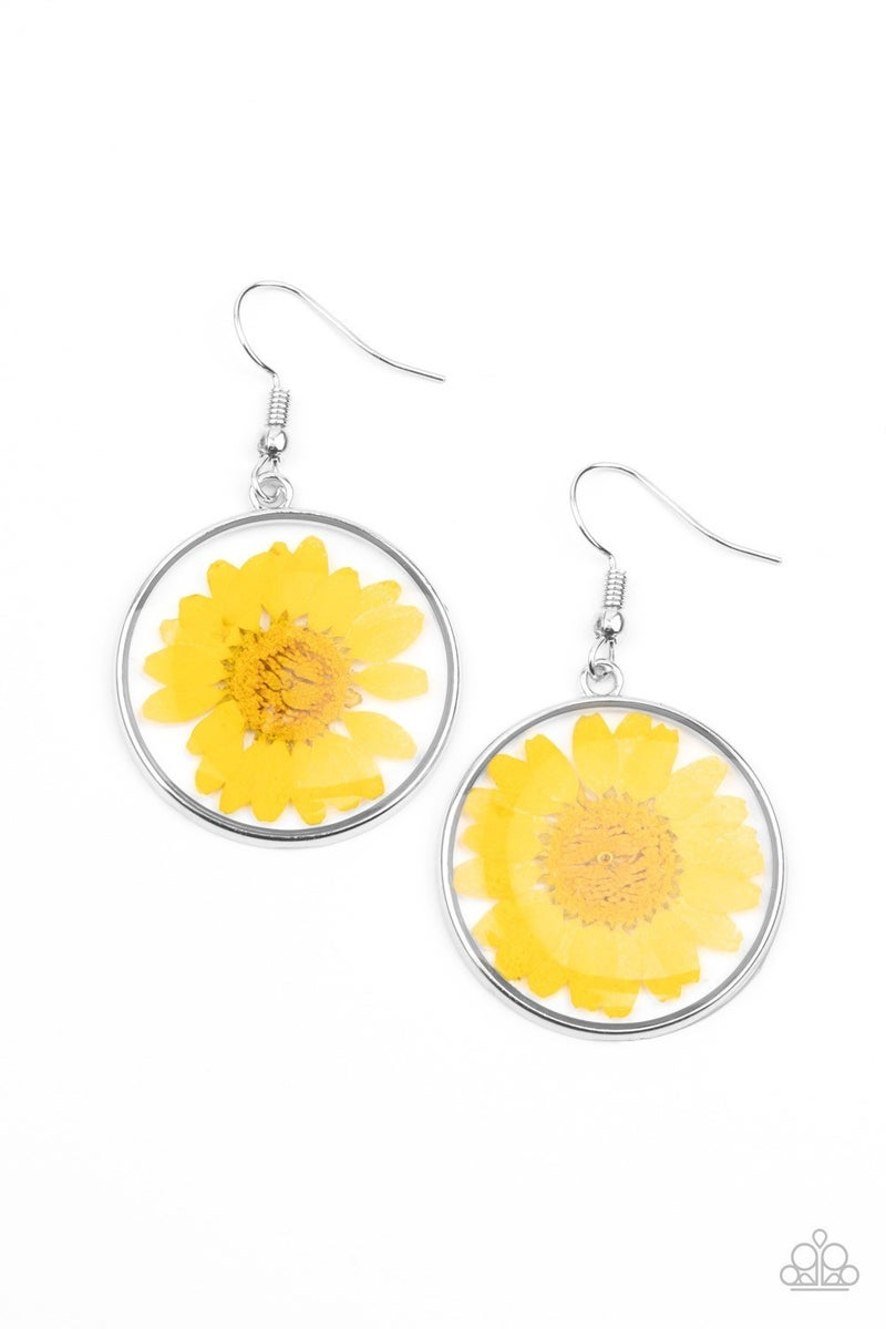 Forever Florals - Yellow Earrings