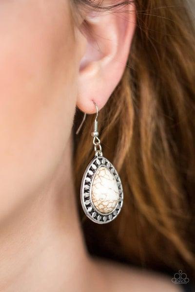Sahara Serenity - White Earrings