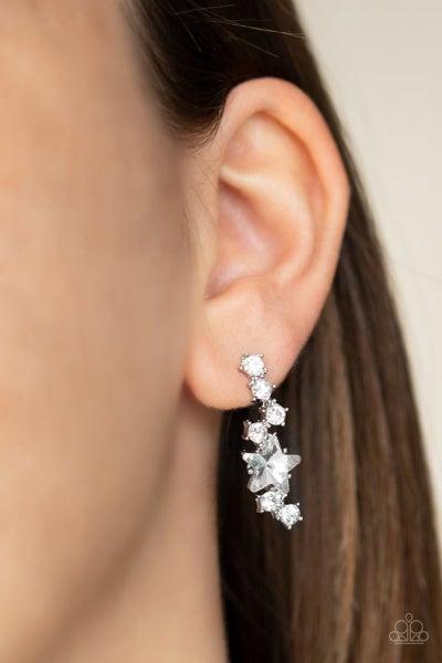 Cosmic Combustion - White Earrings