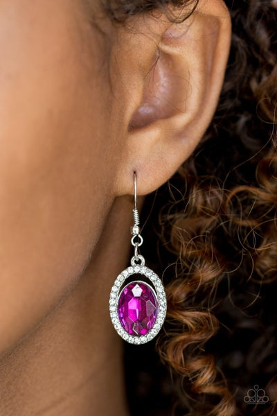 Imperial SHINE-ness - Pink Earrings