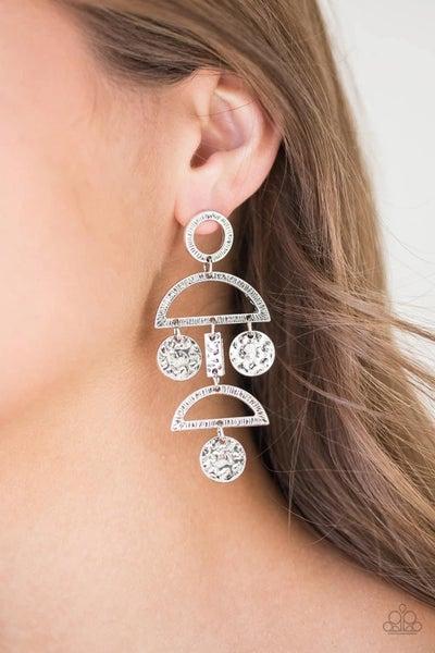Incan Eclipse - Silver Earrings