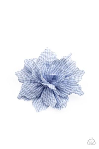 Plaid Prairies - Blue Hair Clip