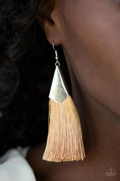In Full PLUME - Brown Earrings
