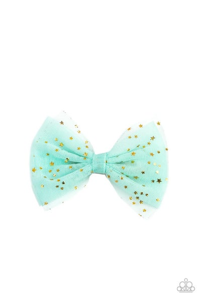 Twinkly Tulle - Green Hair Clip