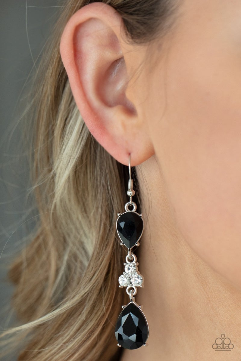 Once Upon a Twinkle - Black Earrings