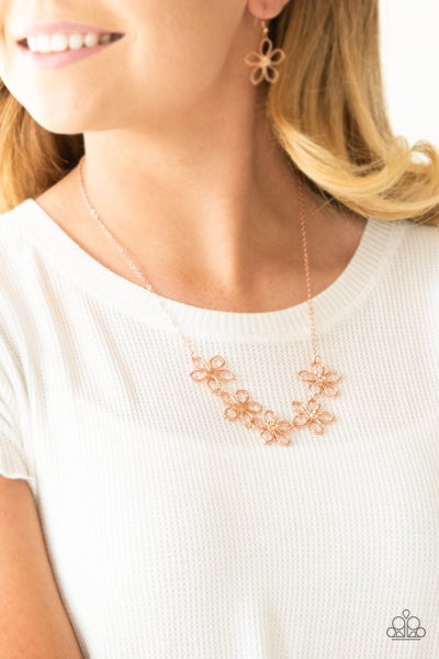Hoppin Hibiscus - Copper Necklace
