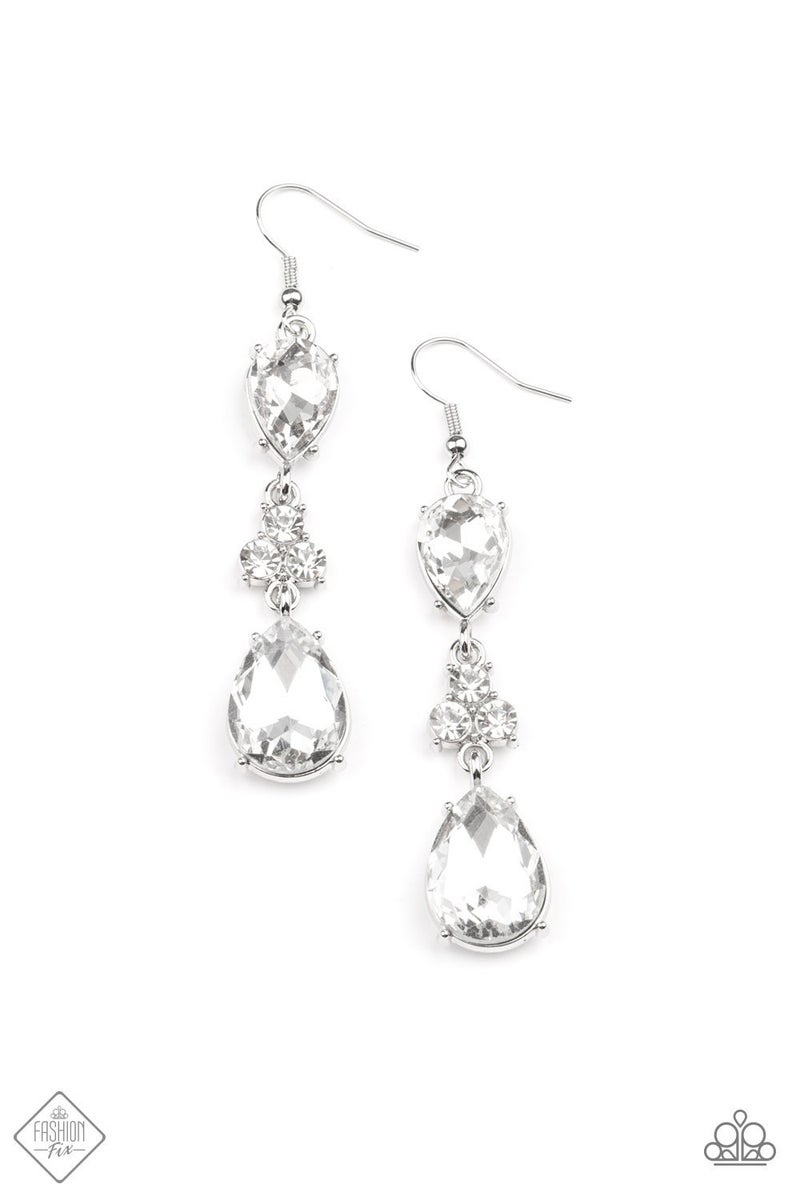 Once Upon a Twinkle - White Earrings - May 2021 Fashion Fix