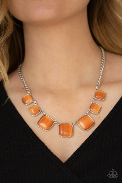 Aura Allure - Orange Necklace