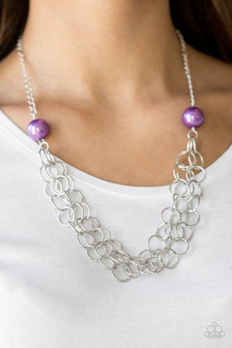Daring Diva - Purple Necklace