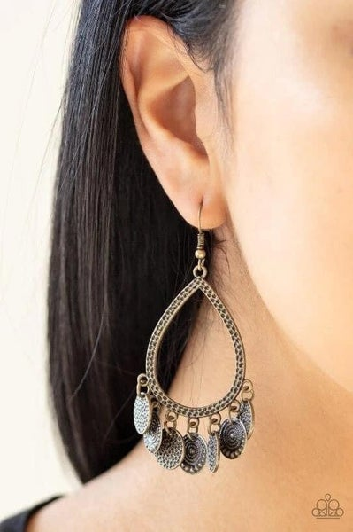 All In Good CHIME - Brass Earrings
