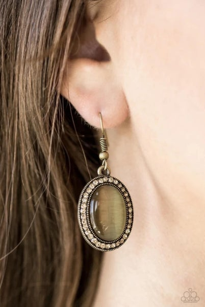 Just Glows to Show You - Brass Earrings