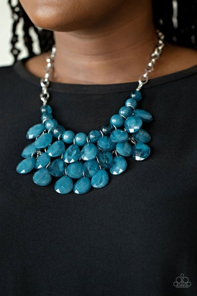 Sorry To Burst Your Bubble - Blue Necklace