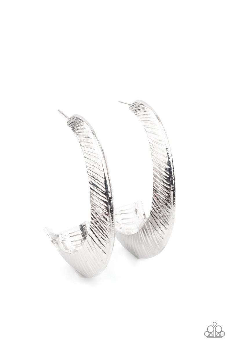 I Double FLARE You - Silver Hoop Earrings