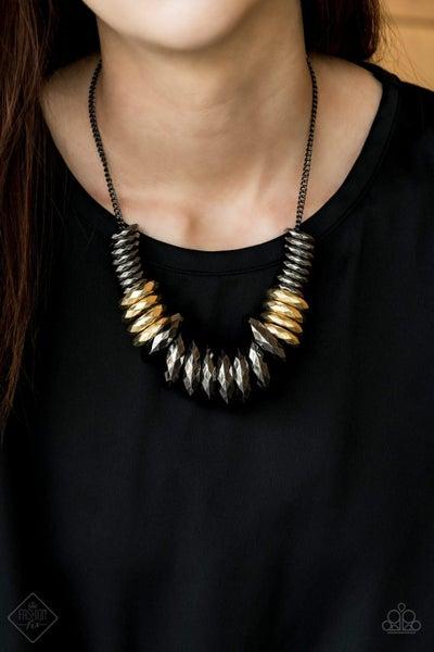 Haute Hardware - Gunmetal Necklace - July 2020 Fashion Fix