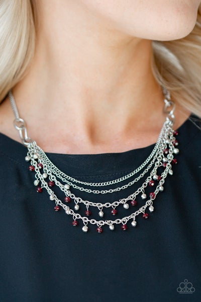 Financially Fabulous - Red Necklace