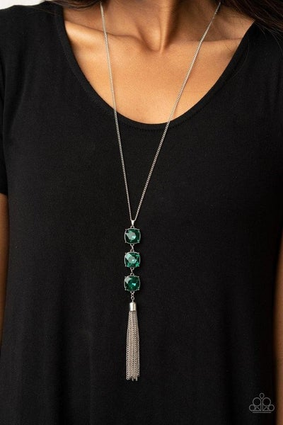 GLOW Me The Money! - Green Necklace