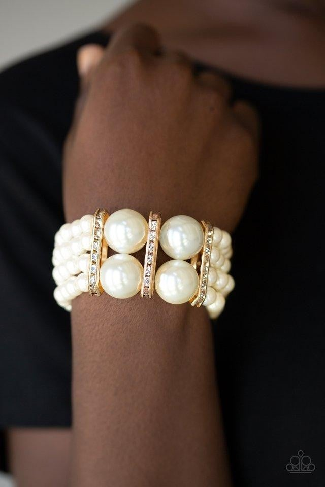 Romance Remix - Gold Stretchy Bracelet