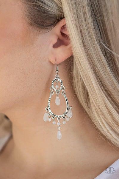 Summer Sorbet - White Earrings