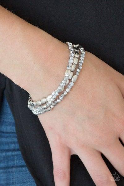 Hello Beautiful - Silver Stretchy Bracelet