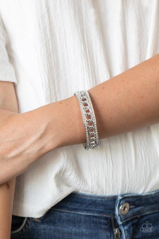 Couture Court - White Bangles