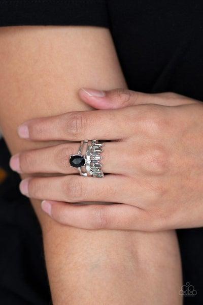 Crowned Victor - Black Ring