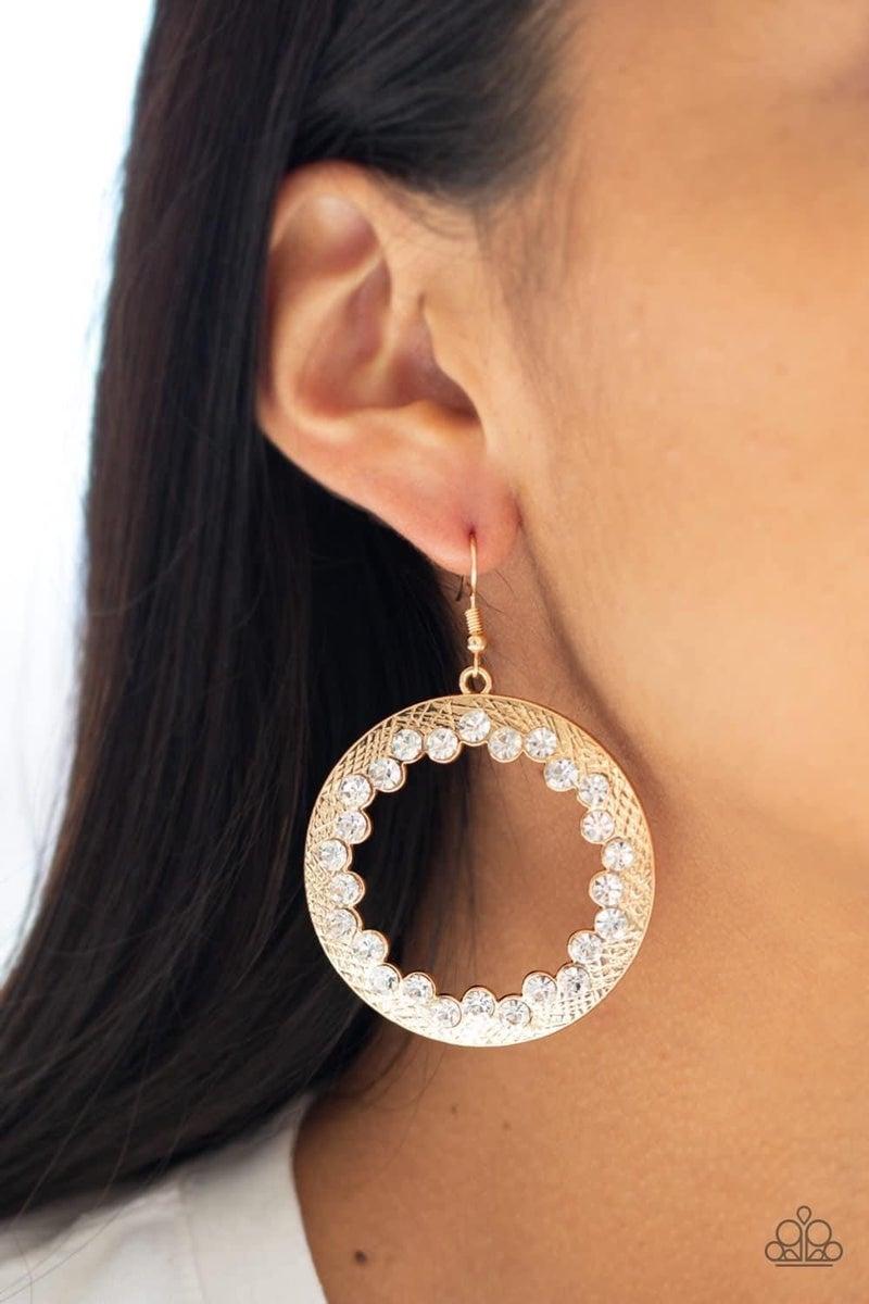 Gala Glitter - Gold Earrings