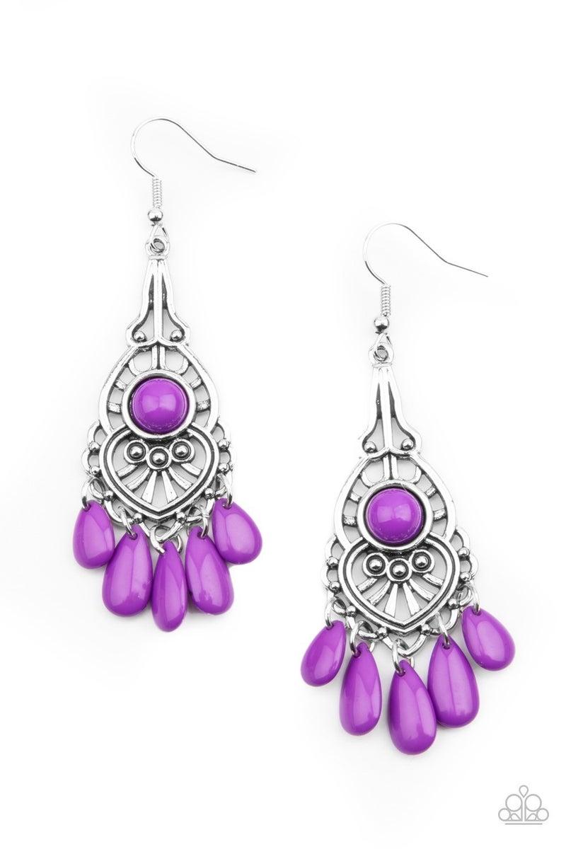 Fruity Tropics - Purple Earrings