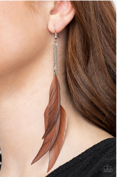West Side Western - Brown Earrings