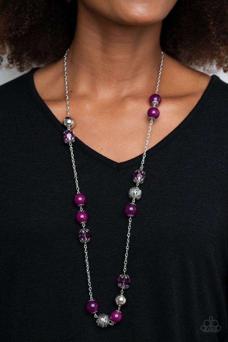 Fruity Fashion - Purple Necklace