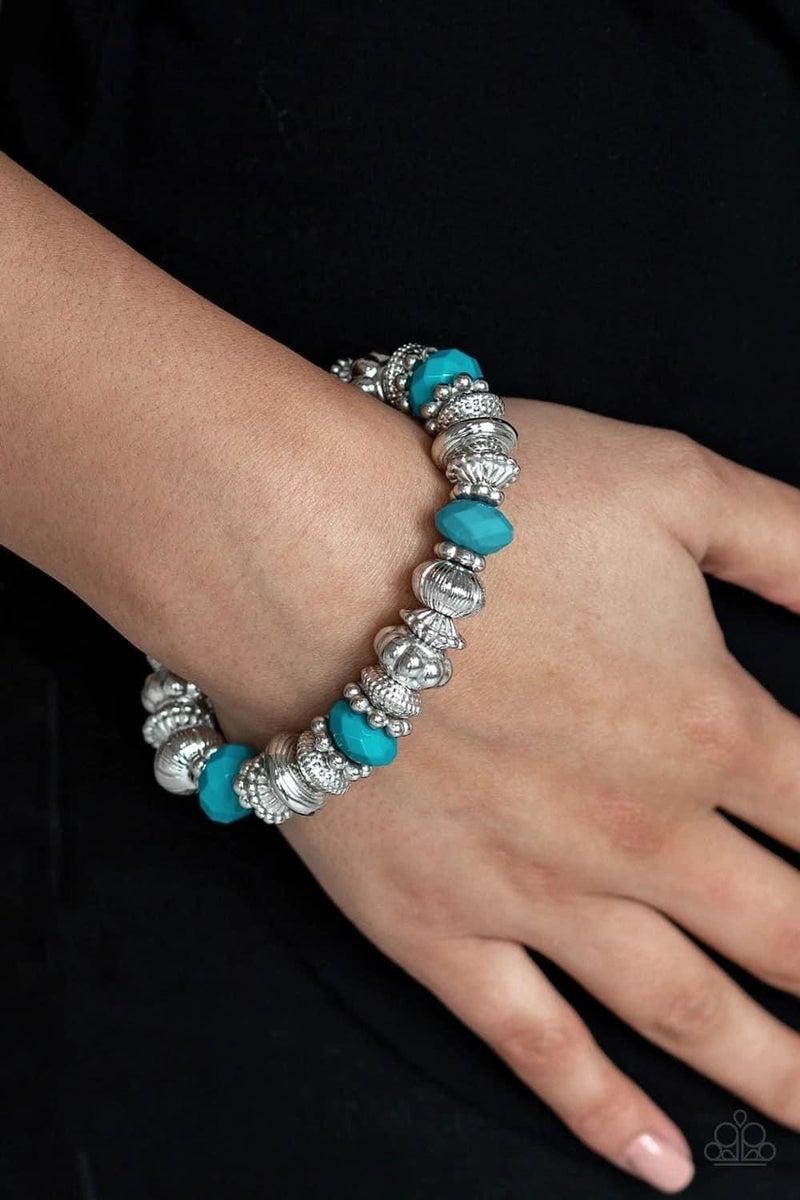 Live Life To The COLOR-fullest - Blue Stretchy Bracelet