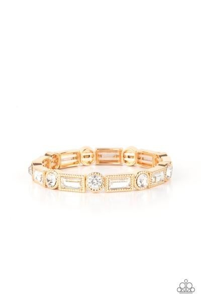 Classic Couture - Gold Stretchy Bracelet