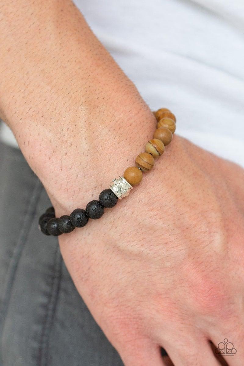 Tuned In - Brown Lava Bracelet
