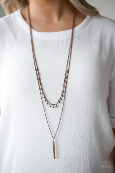 Keep Your Eye On The Pendulum - Copper Necklace