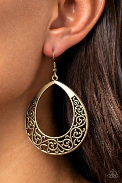 Vineyard Venture - Brass Earrings